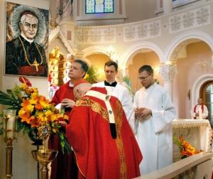 Blessed Jurgis Matulaitis, MIC with Francis Cardinal George, OMI